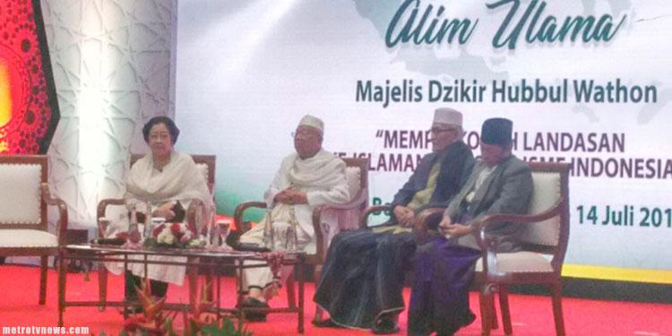 Di Halaqah Alim Ulama, Megawati Kenang Mbah Hasyim