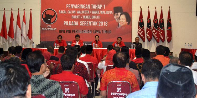 Mulai Uji Bakal Calon, PDIP Jatim Targetkan Menang di 12 Kabupaten/Kota