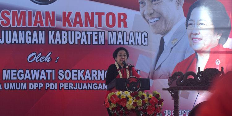 Ini, Pesan Megawati Saat Resmikan Kantor DPC PDIP Kabupaten Malang