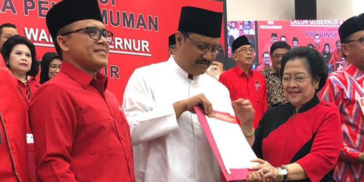 Meski Paslon Tak Hadir, PDIP Lamongan Intens Sosialisasikan Gus Ipul-Anas