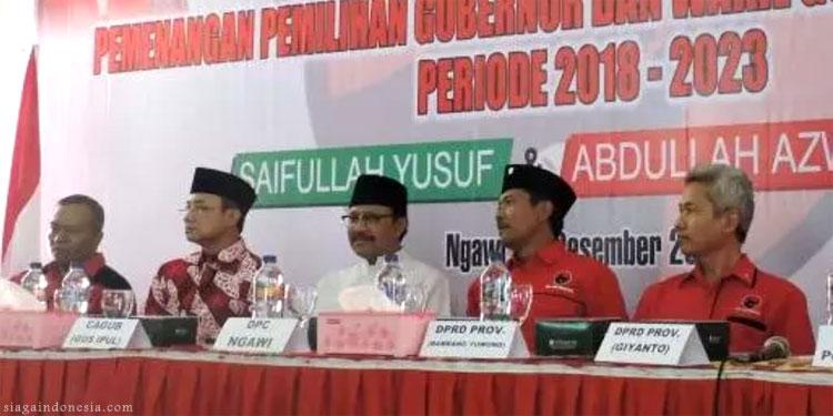 PDIP Ngawi Siap Menangkan Gus Ipul-Mas Anas Secara Mutlak