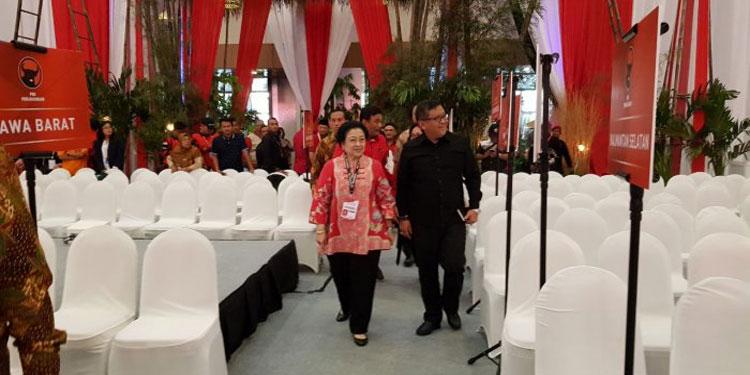 Megawati Pantau Langsung Persiapan Rakornas 3 Pilar