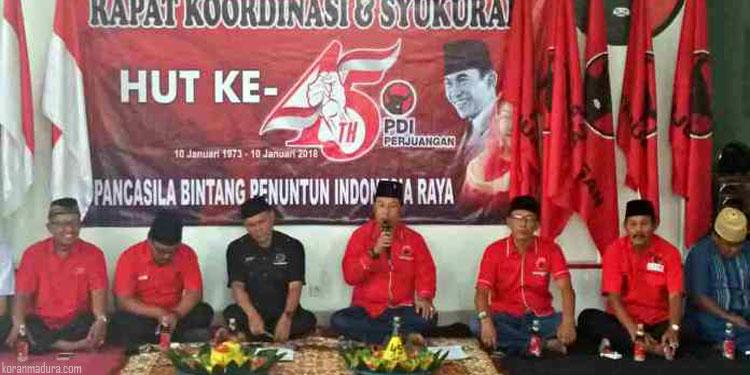 PDI Perjuangan Sumenep Siap Amankan Rekom untuk Gus Ipul-Puti