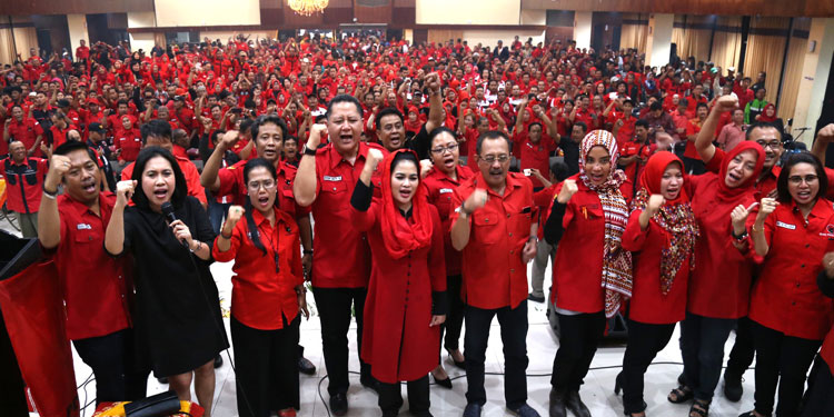 PDIP Surabaya Targetkan 90 % Suara Kemenangan untuk Gus Ipul-Mbak Puti