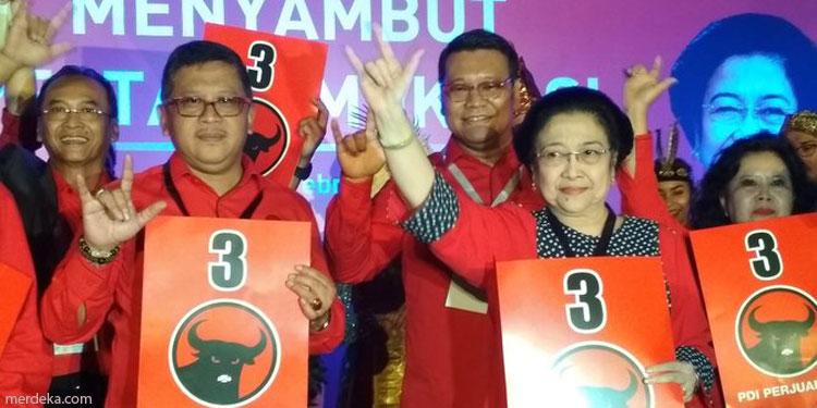 Di 10 Provinsi Ini, PDIP Juarai Pemilu 2019