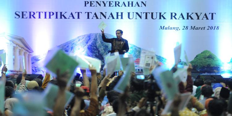 Jokowi: 2023, Semua Tanah di Jawa Timur Sudah Bersertifikat