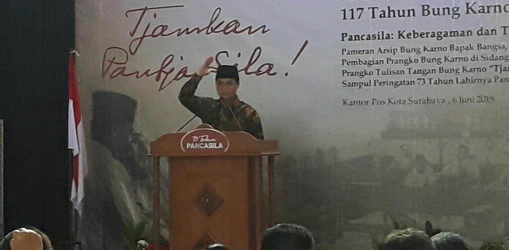 Peringati Pancasila, Basarah Ajak Generasi Milenial Melawan Lupa