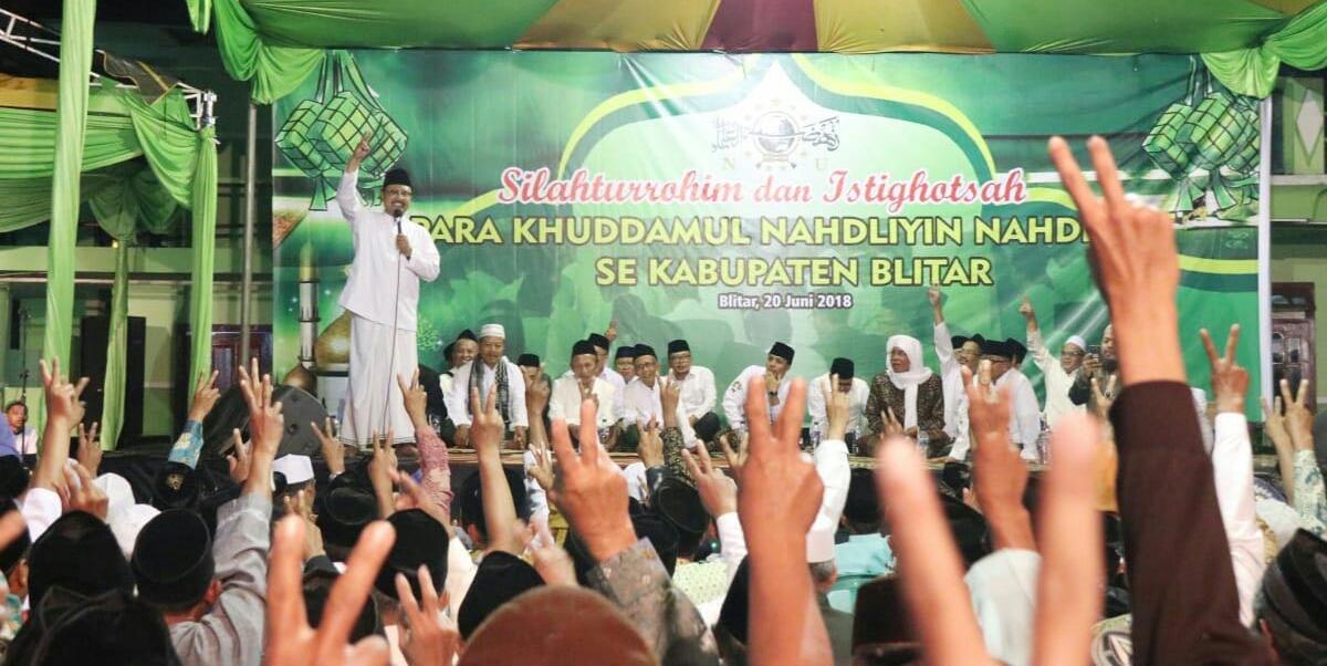 Empat Menteri Jokowi Dampingi Gus Ipul Sapa Relawan NU Blitar