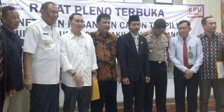 KPU Tetapkan Novi-Marhaen Bupati-Wakil Bupati Nganjuk Terpilih