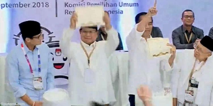 Dapat Nomor 1, Jokowi Ajak Prabowo-Sandi Adu Prestasi dan Gagasan