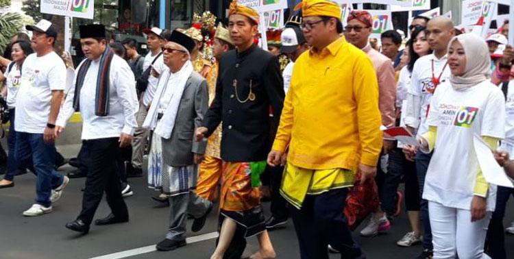 Hadiri Kampanye Damai, Jokowi-Amin Disambut Heboh Masyarakat