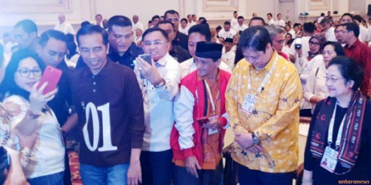 Jokowi Minta Semua Bekerja Keras Wujudkan Kemenangan