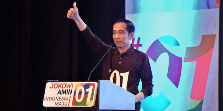 Satu Jempol, Salam Baru Pasangan Jokowi-Ma'ruf