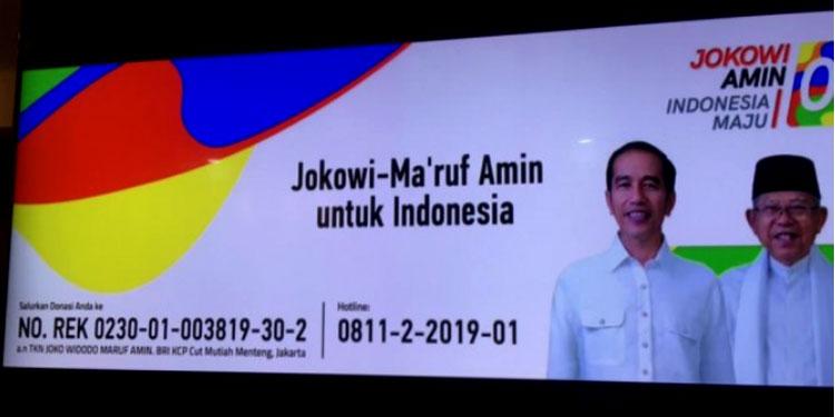 Pelopori Transparansi dan Akuntabilitas, TKN Jokowi-Ma'ruf Luncurkan Rekening Dana Kampanye