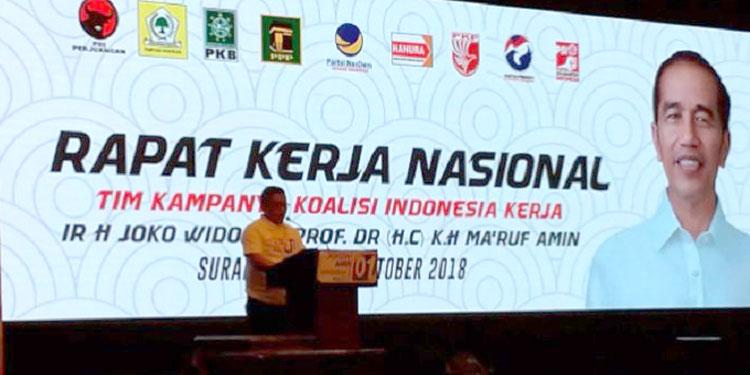 Rekomendasi Rakernas, TKN Patok Target Kemenangan Jokowi-Ma'ruf 70 Persen