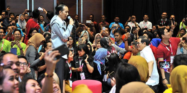 Bertemu Ribuan Karyawan Milenial, Ini Pesan Jokowi