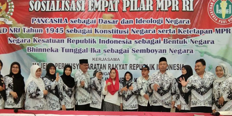 Guru Kemenag dan Kemendikbud Kediri Menyatu dalam Sosialisasi 4 Pilar MPR