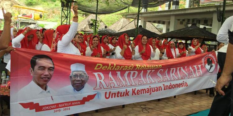 Rampak Sarinah Deklarasi Dukung Jokowi-Ma'ruf Amin