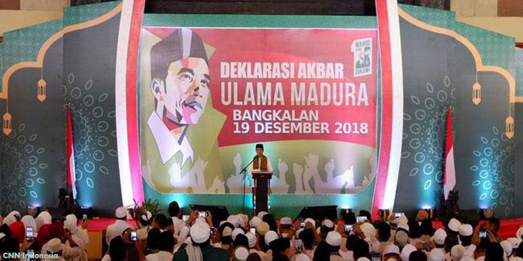 Ulama Madura Deklarasi Dukung Jokowi-Ma'ruf