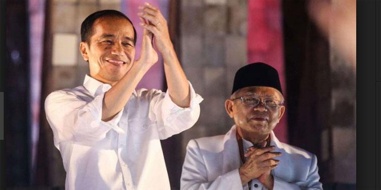 Situng KPU 90,5%: Jokowi-Ma'ruf 55,67%, Prabowo-Sandi 44,33%