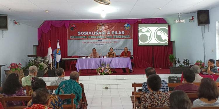 Sosialisasi 4 Pilar MPR sambil Tampung Aspirasi Pendeta se-Blitar Raya