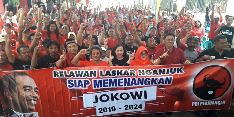 Inginkan Jokowi Pimpin RI Lagi, Laskar Nganjuk Terus Gerakkan Relawan