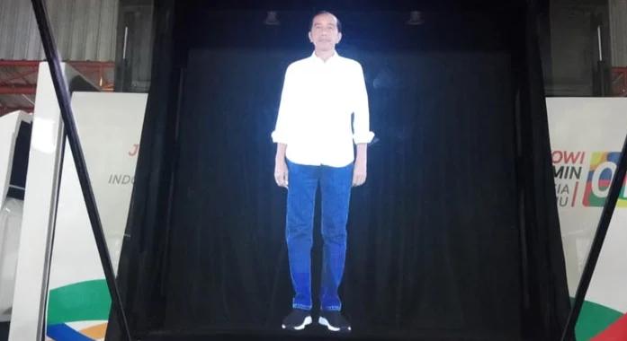Keren! Jokowi Kampanye Lewat Teknologi Hologram