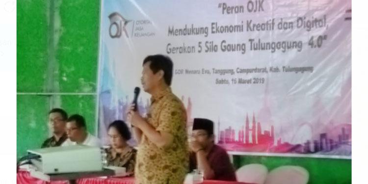 Sosialisasi OJK di Tulungagung, Eva Sundari Mulai Gulirkan Gerakan Kolaborasi 4.0