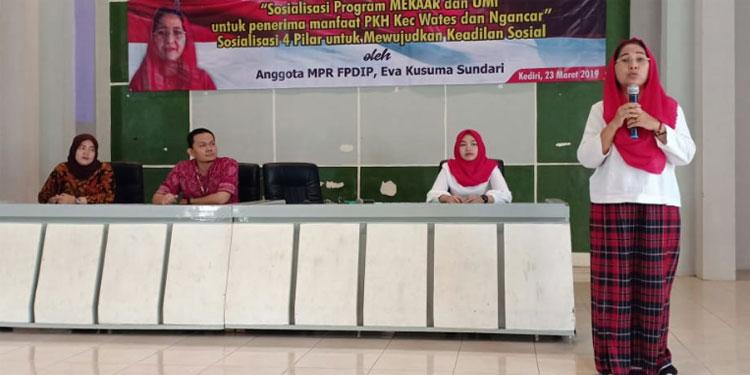 Eva Sundari Sosialisasi 4 Pilar dengan Para Pendamping PKH