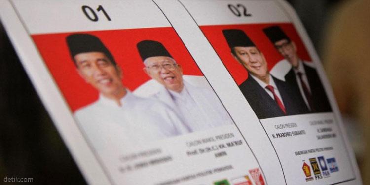 Situng KPU 82,11 Persen: Jokowi 70,7 Juta, Prabowo 55 Juta