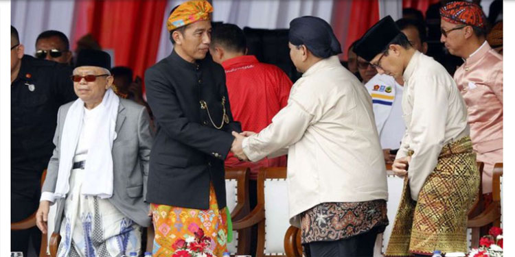 Tingkat Nasional, Jokowi-Ma'ruf Unggul 14,9 Juta Suara