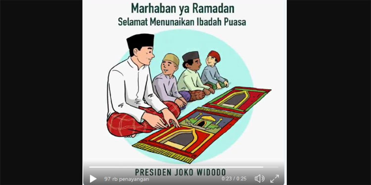 Jokowi: Marhaban ya Ramadan, Selamat Menunaikan Ibadah Puasa