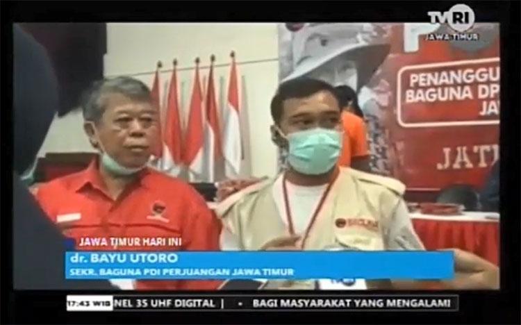 Kantor DPD PDIP Jatim disulat Jadi Tempat Pembuatan APD dan Sejuta Masker