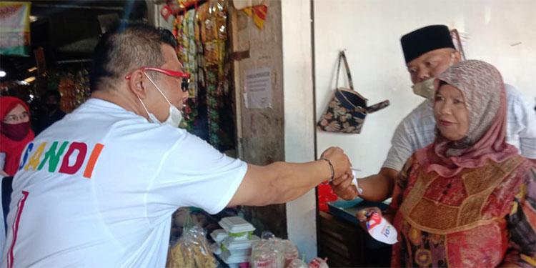 Sapa Pedagang Pasar Gondanglegi, SanDi Kuatkan Protokol Kesehatan