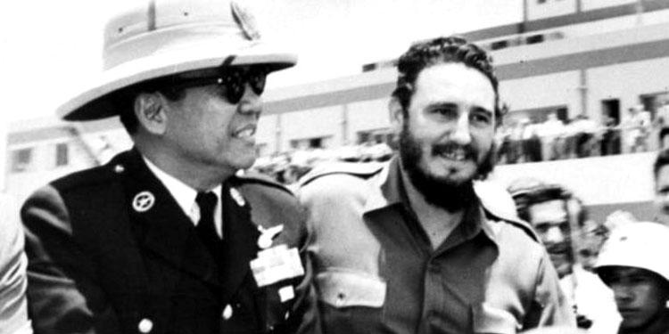 pdip-jatim-Sukarno-dan-Castro-di-Havana