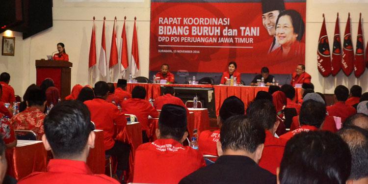 Bidang Buruh dan Tani DPD PDIP Jatim Gelar Rakor