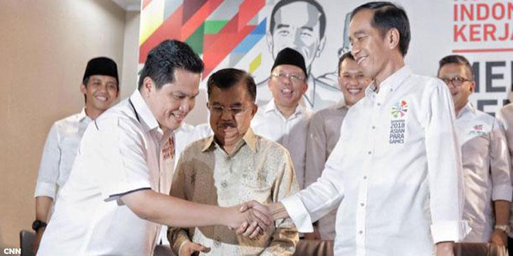 Erick Thohir Nakhodai Tim Kampanye Nasional Jokowi-Ma'ruf