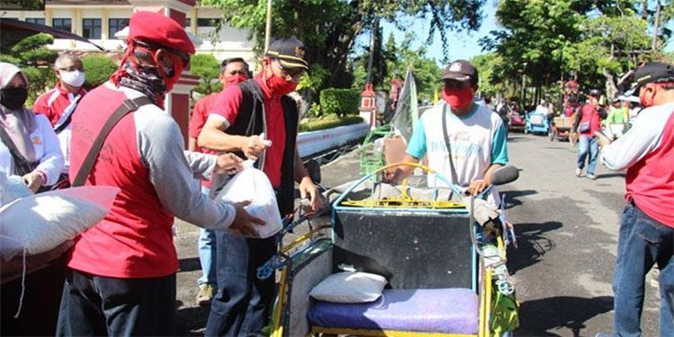 Baguna, Korpri dan Relawan di Ngawi Bersinergi Tanggulangi Dampak Covid-19